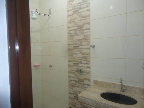 A bathroom at Rancho Mata Velha