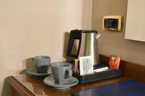 Coffee and tea-making facilities at Hotel Montecarlo