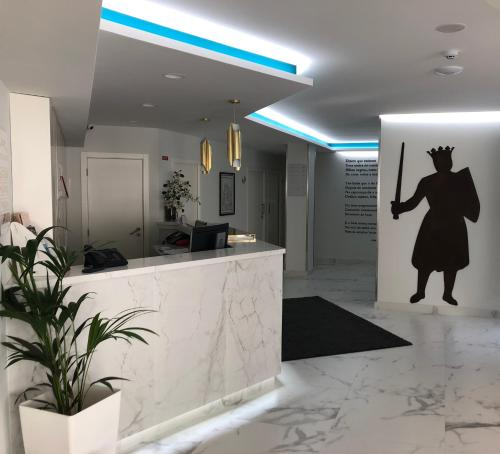 The lobby or reception area at Hotel D. Dinis
