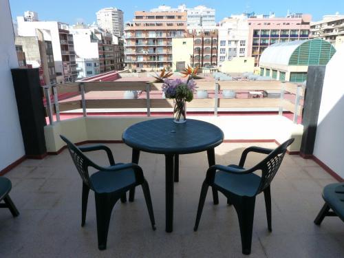 A balcony or terrace at Hotel Valencia