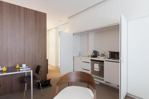 A kitchen or kitchenette at Residence Wyck