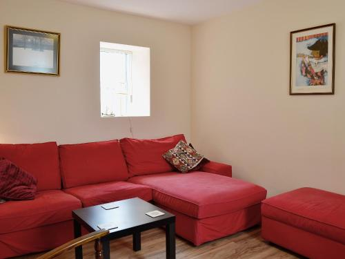 A seating area at Sandy Brae Cottage