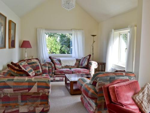 A seating area at Riverbank Cottage