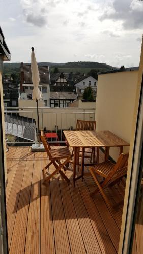 Ein Balkon oder eine Terrasse in der Unterkunft Dautzenberg Ferienapartments
