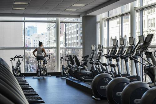 The fitness center and/or fitness facilities at Four Seasons Hotel San Francisco