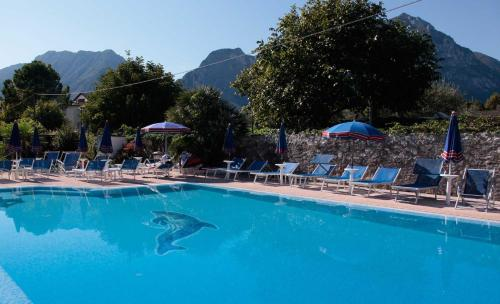 The swimming pool at or near Hotel Villa Claudia