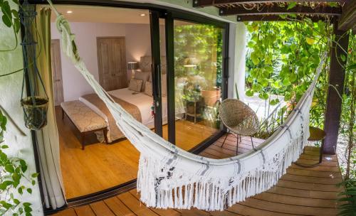 A balcony or terrace at Patio del Mundo