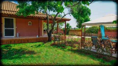 A garden outside Villa Androniki