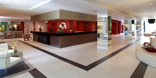 The lobby or reception area at Hotel Nuevo Boston