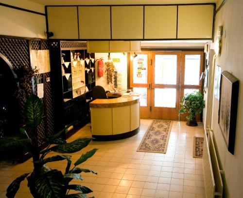 The lobby or reception area at Panoráma Üdülőszálló