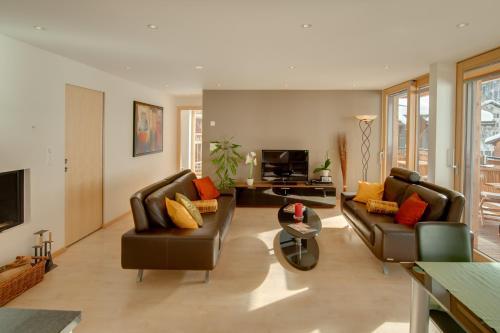 Ein Sitzbereich in der Unterkunft Apartment Meric Superior