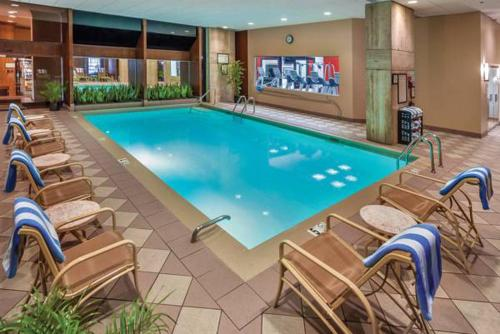 The swimming pool at or near DoubleTree by Hilton Philadelphia Airport