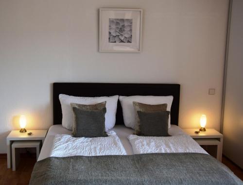 Een bed of bedden in een kamer bij Haus von Hoegen