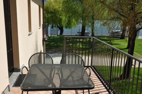 Balcon ou terrasse dans l'établissement North Wind Camping & Apartment