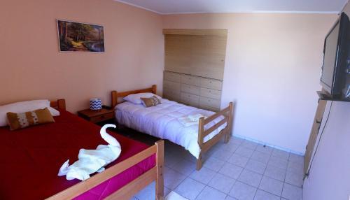 Cama o camas de una habitación en Hotel Feudal