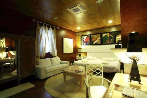 Zona de estar de Hotel Boutique Palacio de la Serna