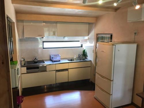 シャンティーバンガロー にあるキッチンまたは簡易キッチン