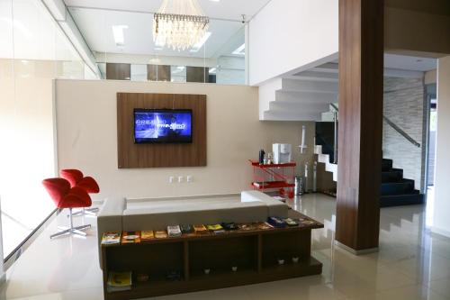 A television and/or entertainment center at Premium Palace Hotel
