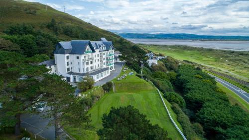 A bird's-eye view of Trefeddian Hotel