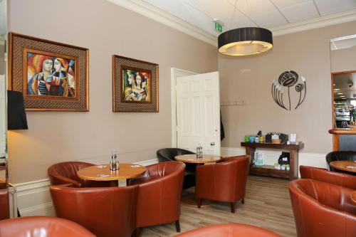 The lobby or reception area at Millfields Hotel