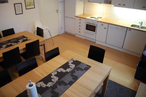 Ett kök eller pentry på Wisby Jernväg Hostel