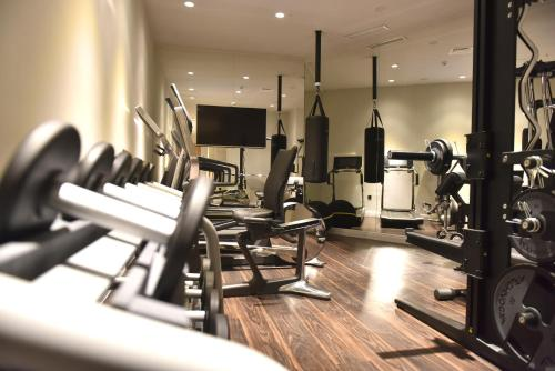 The fitness center and/or fitness facilities at Hotel Panoramika Design & Spa