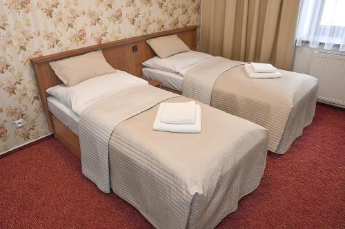 Postel nebo postele na pokoji v ubytování Hotel Sonata