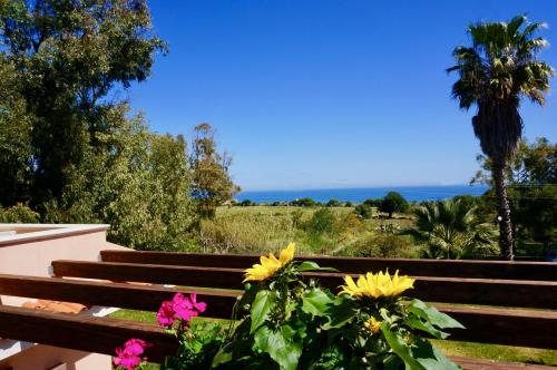 A balcony or terrace at Bed and Breakfast Villa Nella
