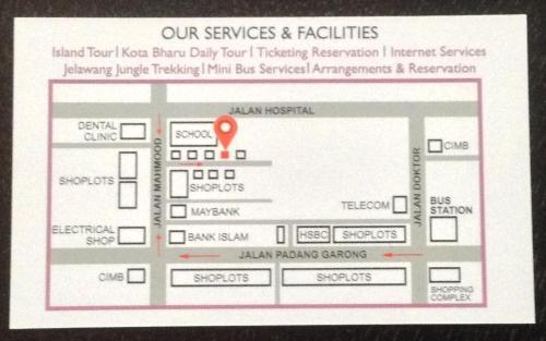 The floor plan of Kb Backpackers Lodge