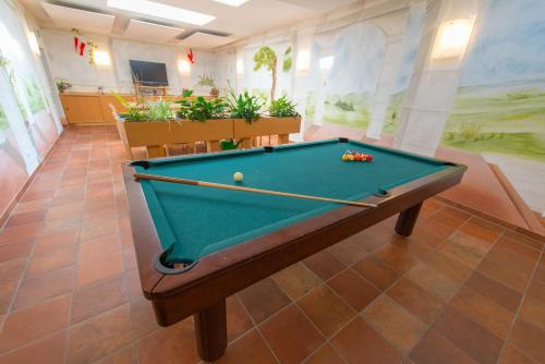 Ein Billardtisch in der Unterkunft Hotel Naggler Weissbriach