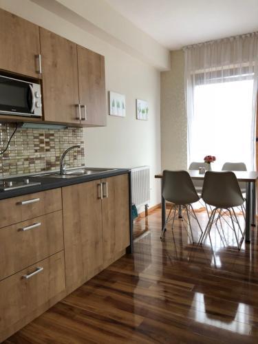 Kuchyň nebo kuchyňský kout v ubytování Evička Penzion