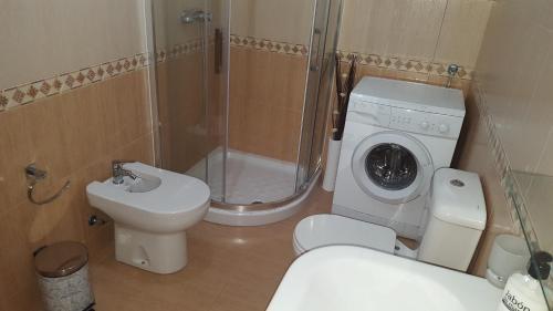 A bathroom at Alojamientos A Pedra