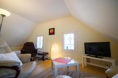 TV/Unterhaltungsangebot in der Unterkunft Ferienwohnungen auf dem Carlshof in Jork - Altes Land