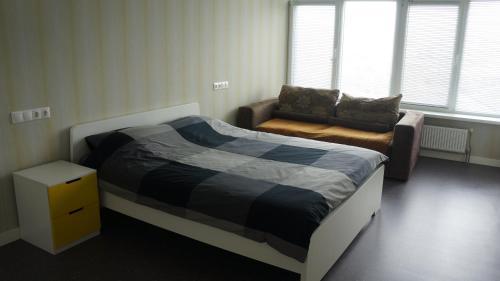 Кровать или кровати в номере ''BlueSky'' apartment