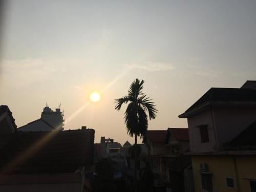 The sunrise or sunset as seen from the hostel or nearby