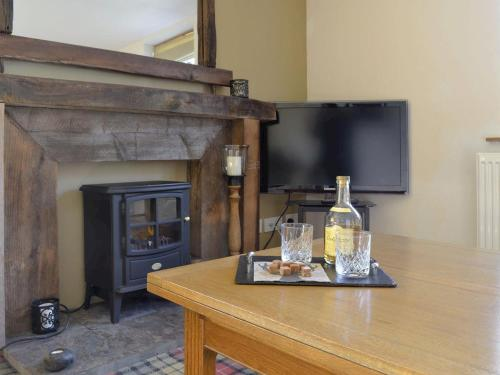 A television and/or entertainment center at Oakridge Steading