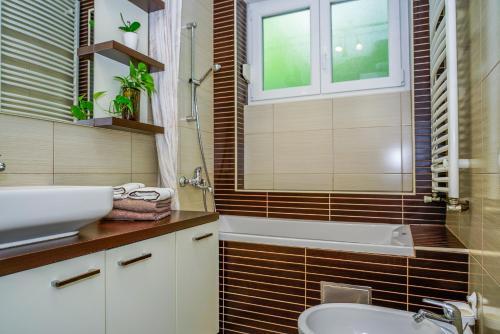 Koupelna v ubytování Yellow Bike Apartment