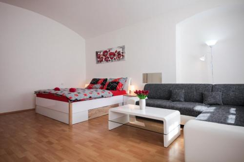 A seating area at Family Duplex on Wenceslas square