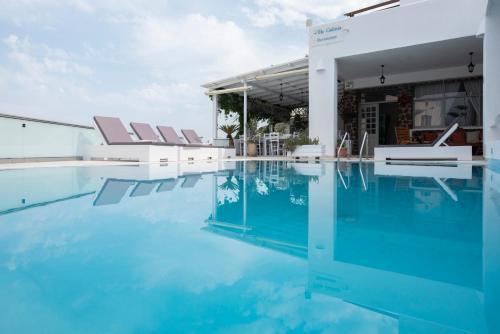 The swimming pool at or near Villa Galinia