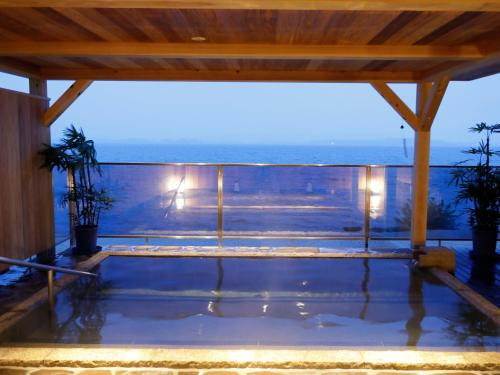A general sea view or a sea view taken from the ryokan