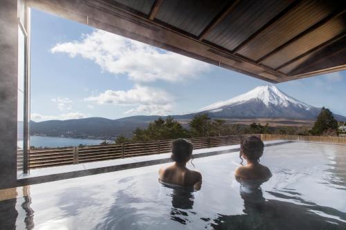 富士山酒店游泳池或附近泳池
