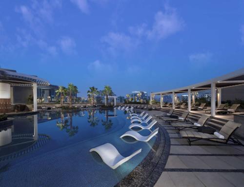The swimming pool at or near Hyatt Regency Dubai Creek Heights