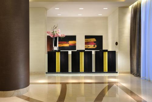 The lobby or reception area at Uptown Palace