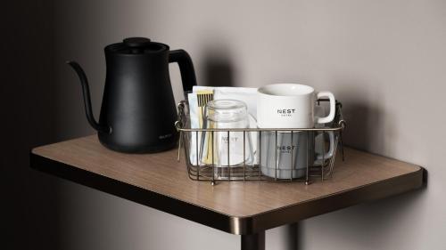 Coffee and tea-making facilities at Nest Hotel Tokyo Hanzomon