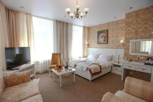 Гостиная зона в Отель Чайковский