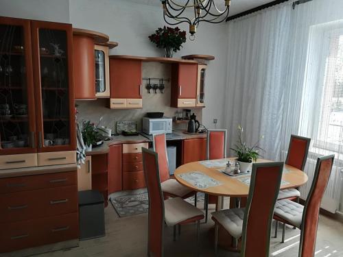 Kuchyň nebo kuchyňský kout v ubytování Rodinný Penzion Karin