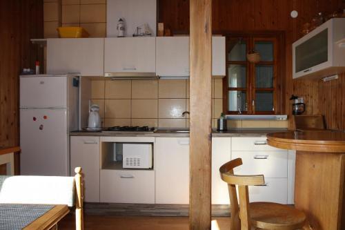 Virtuvė arba virtuvėlė apgyvendinimo įstaigoje Apartamentai Zveju 11