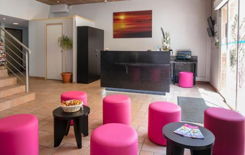 The lobby or reception area at L'Esterel