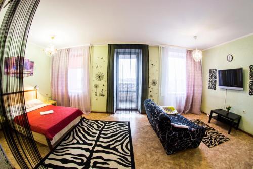 Гостиная зона в RENT-сервис Apartment Zhukova 144