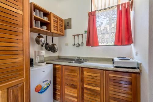 Кухня или мини-кухня в Hotel Colinas del Sol